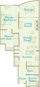 Aqua Condos For Sale - Floorplan - 1 Bedroom