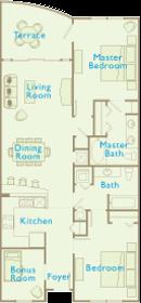 Aqua Condos For Sale - Floorplan - 2 Bedroom