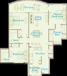 Aqua Condos For Sale - Floorplan - 3 Bedroom