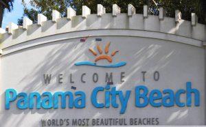 Panama City- Beach Welcome Sign